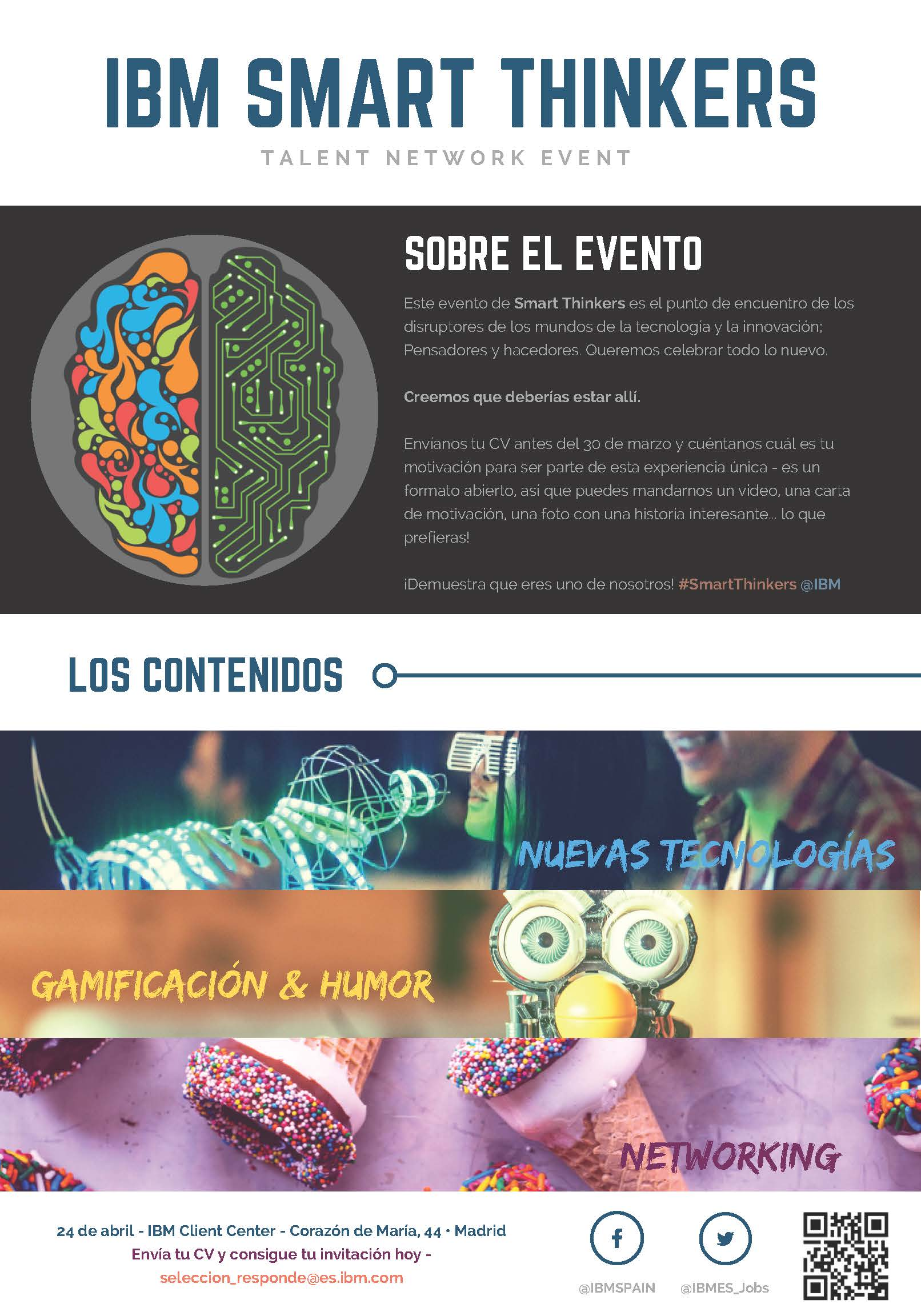 CONVOCATORIA: EVENTO SMART THINKERS @ IBM (Finaliza el 30 de marzo)